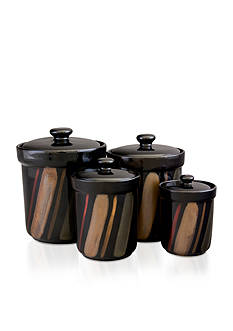 Sango Avanti Black Set of 4 Canisters - Online Only