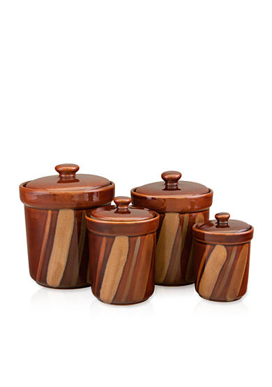 Sango® Avanti Brown Set of 4 Canisters - Online Only