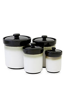 Sango® Nova Black Set of 4 Canisters - Online Only