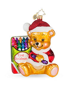 Christopher Radko™ 4.5-in. Color Me Cute 'First Christmas' Ornament