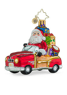 Christopher Radko™ 3-in. Vintage Ride Little Gem Santa Claus Ornament