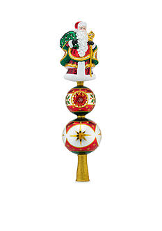 Christopher Radko™ 16-in. Reflections of Santa Finial Tree Topper