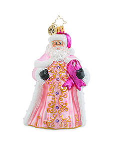 Christopher Radko™ 5.5-in. Perfectly Pink Gent Breast Cancer Awareness Ornament