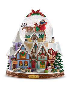 Christopher Radko™ 8-in. Up On The House Top Snowglobe