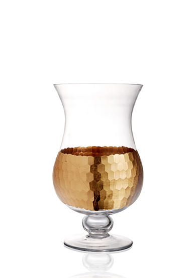 Fitz and Floyd Daphne Gold Hurricane Lamp