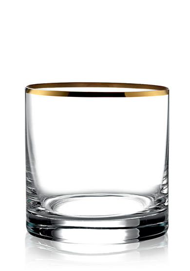 Fitz and Floyd Michel Gold Double Old Fashion, Set of 4