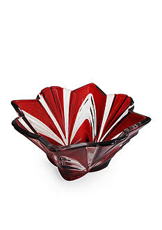 Crystal Clear Aurora Ruby 8-in. Bowl