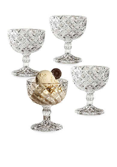Crystal Clear Muirfield Set of 4 Pedestal Cups