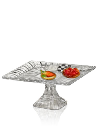 Crystal Clear Alexandria Square Pedestal Cake Plate