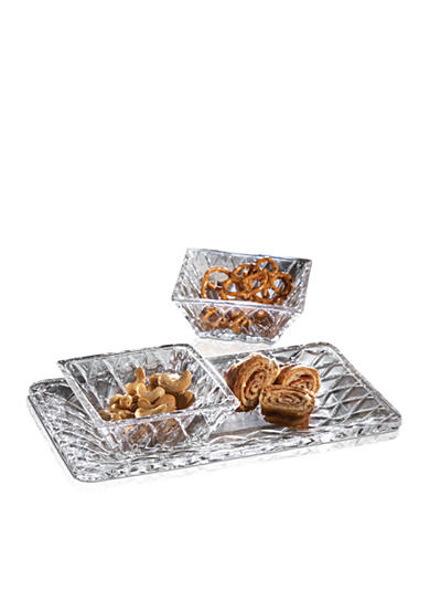 Crystal Clear Muirfield 3 Piece Serving Set