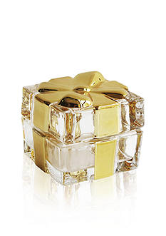 Crystal Clear Gold Plated Bow Box