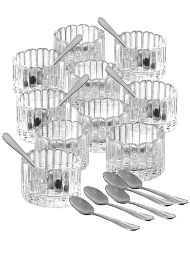 Crystal Clear Alexandria 21 Piece Taster Bowls