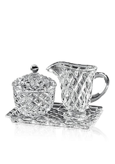 Crystal Clear Muirfield Sugar and Creamer with Tray