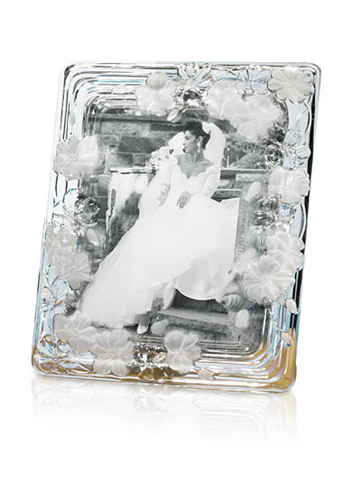 Crystal Clear Natalie Floral 8x10 Glass Frame