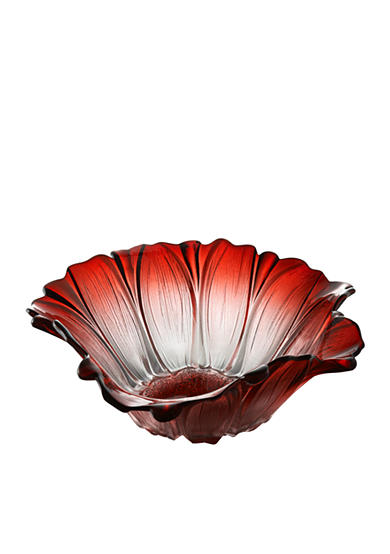 Crystal Clear Venezia Red Bowl