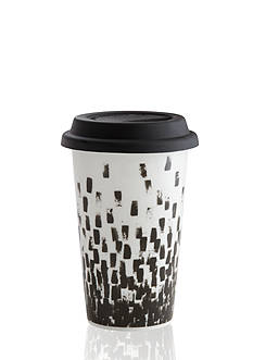 Vera Wang Vera Print Check 12-oz. Travel Mug