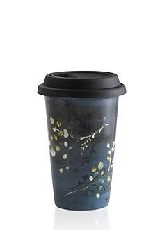Vera Wang Vera Print Floral 12-oz. Travel Mug