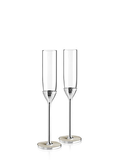 Vera Wang With Love Set of 2 Pearl Toasting Flutes