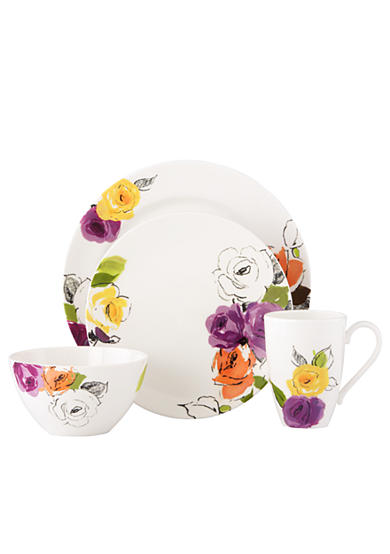 kate spade new york® Charcoal Floral Dinnerware