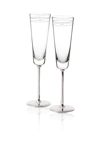 kate spade new york® Darling Point Crystal 2-Piece Toasting Flute