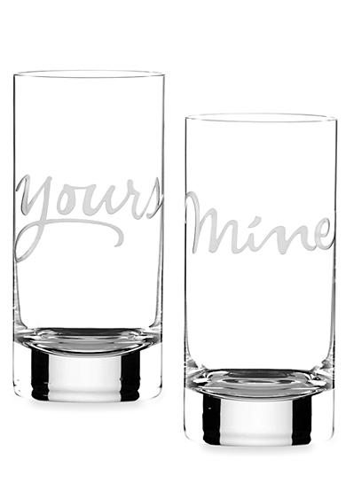 kate spade new york® Two of a Kind 16-oz. Glasses