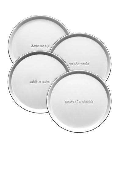 kate spade new york® Silver Street Set of 4 Coasters