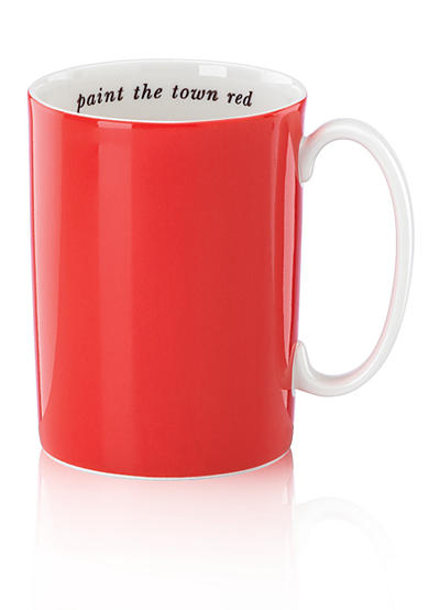 kate spade new york® Say The Word Orange Mug Paint the Town Red