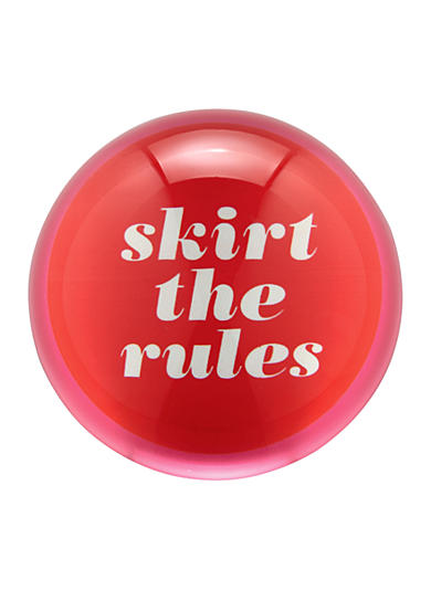 kate spade new york® Say The Word Paper Weight 'Skirt the Rules'