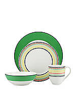 Hopscotch Drive Green 4-Piece Place Setting
