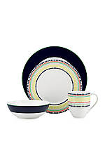 Hopscotch Drive Navy 4-Piece Place Setting