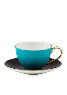 kate spade new york® Greenwich Grove Cup and Saucer Set - Turquoise & Yellow - Online Only