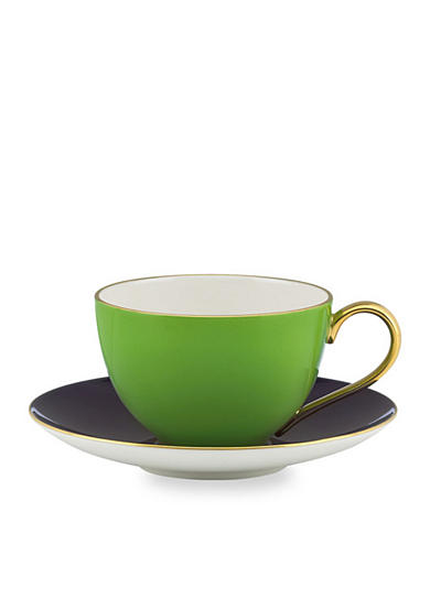 kate spade new york® Greenwich Grove Cup & Saucer Set - Green - Online Only