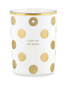 kate spade new york® 'Light Up the Room' Gold Dot Candle