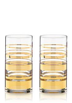 kate spade new york® Hampton Street Set of 2 Highball Glasses