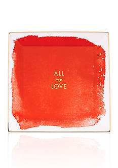 kate spade new york® Posy Court Red Square Tray