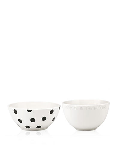 kate spade new york® all in good taste Proof is in the Pudding & Deco Dot 2-Piece Mixing Bowl Set