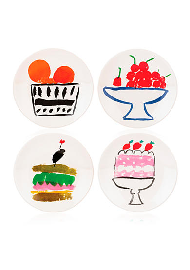 kate spade new york® all in good taste Pretty Pantry Set of 4 Appetizer Plates Set