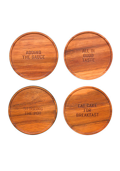 kate spade new york® all in good taste Set of Four Wood Coasters
