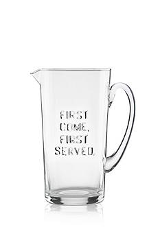 kate spade new york® first come, first served Glass Pitcher