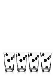 kate spade new york® all in good taste Set of 4 Deco Dot All-Purpose Beverage Set