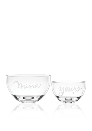 kate spade new york® Set of 2 Two of a Kind, Yours and Mine Bowl Set
