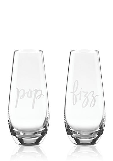 kate spade new york® Two of a Kind Stemless Champagne, Set of 2