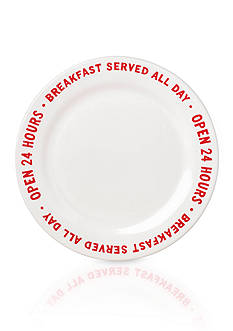 kate spade new york order's up accent plate - OPEN 24 HOURS