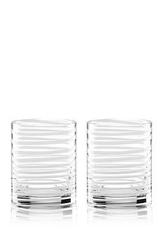 kate spade new york Charlotte Street White 2-pc. Double Old Fashion Glass Set