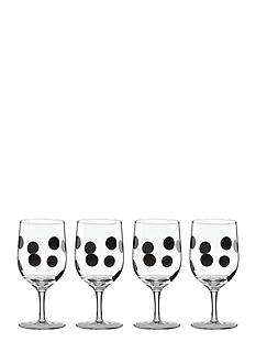 kate spade new york all in good taste Deco Dot Iced Beverage Set of 4