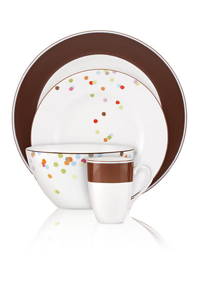 kate spade new york ® Market Street Dinnerware - Chocolate