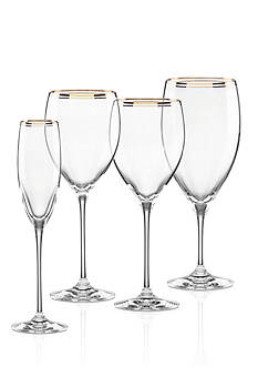 kate spade new york® Orleans Square Gold Stemware