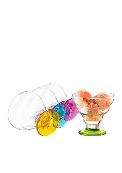 Libbey Set of 4 Impressions Colors Desserts