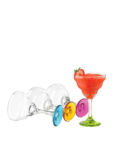 Libbey Set of 4 Impressions Colors Margarita Glasses