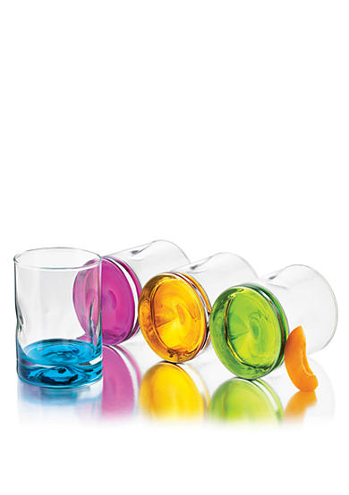 Libbey 4-Piece Set Impressions Colors Double Old Fashioned